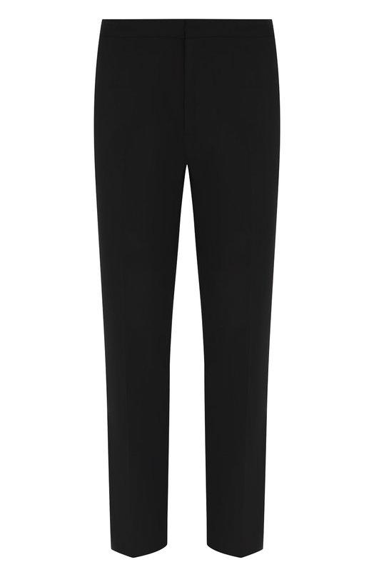 Купить Шерстяные брюки прямого кроя Emporio Armani, 11P4DK/01506, Болгария, Черный, Шерсть: 96%; Эластан: 4%;
