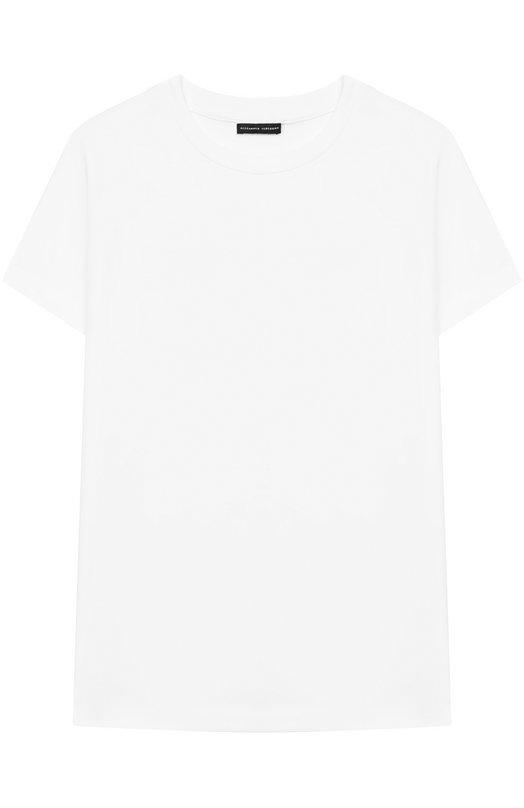 Купить Хлопковая футболка с логотипом бренда на спине Alexander Terekhov, KIDSTSH010P/5512.100/W19_1, Россия, Белый, Хлопок: 92%; Эластан: 8%;