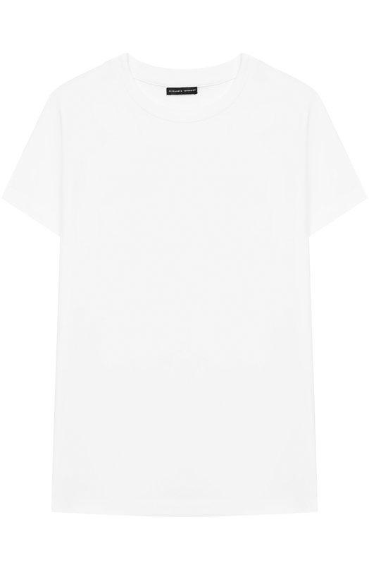 Купить Хлопковая футболка с логотипом бренда на спине Alexander Terekhov, KIDSTSH010P/5512.100/W19, Россия, Белый, Хлопок: 92%; Эластан: 8%;