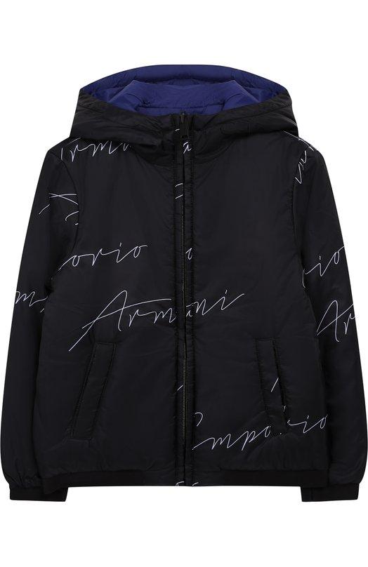 Купить Куртка на молнии с капюшоном Emporio Armani, 6Z4B97/1NUNZ, Китай, Черный, Полиэстер: 100%; Подкладка-полиэстер: 100%;