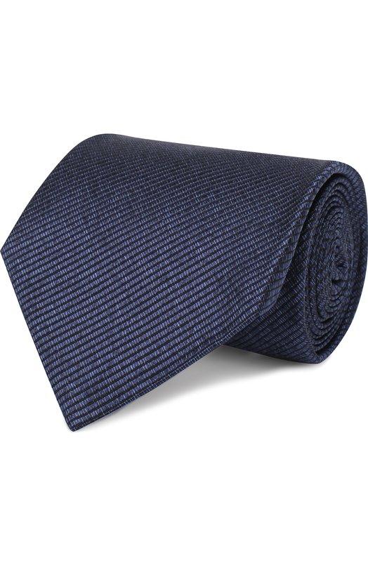 Купить Шелковый галстук Tom Ford, 4TF05/XTM, Италия, Темно-синий, Шелк: 100%;