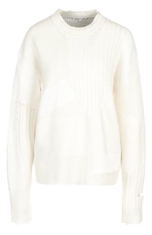 Вязаный пуловер из смеси шерсти и кашемира Helmut Lang