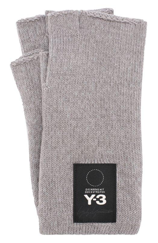 Купить Шерстяные перчатки Y-3, DT0897/M, Тайвань, Серый, Шерсть: 100%;