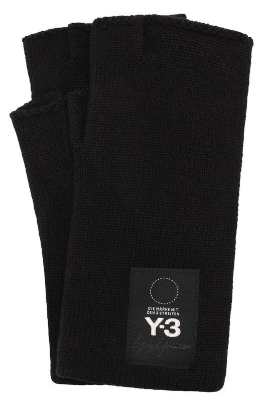 Купить Шерстяные перчатки Y-3, DT0898/M, Тайвань, Черный, Шерсть: 100%;