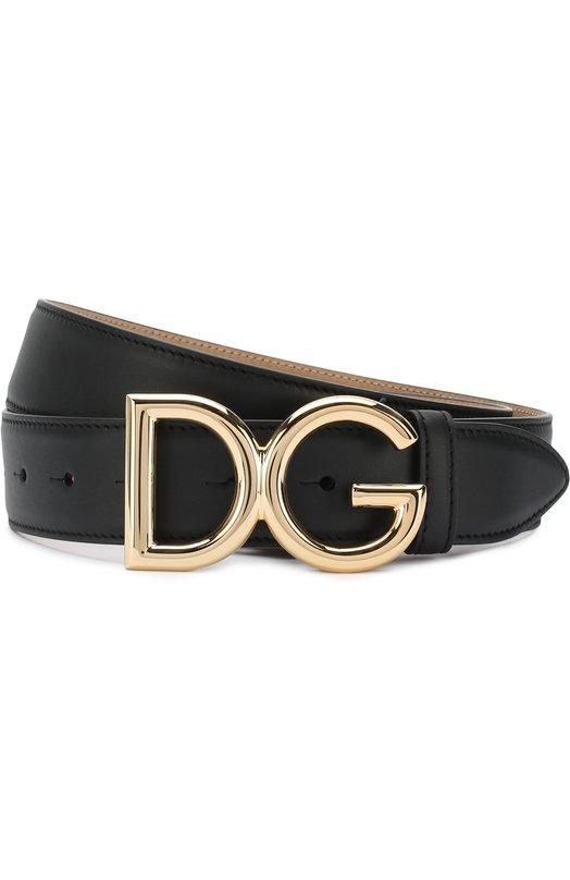 Купить Кожаный ремень с фигурной пряжкой Dolce & Gabbana, BE1324/AV492, Италия, Черный, Кожа натуральная: 100%;