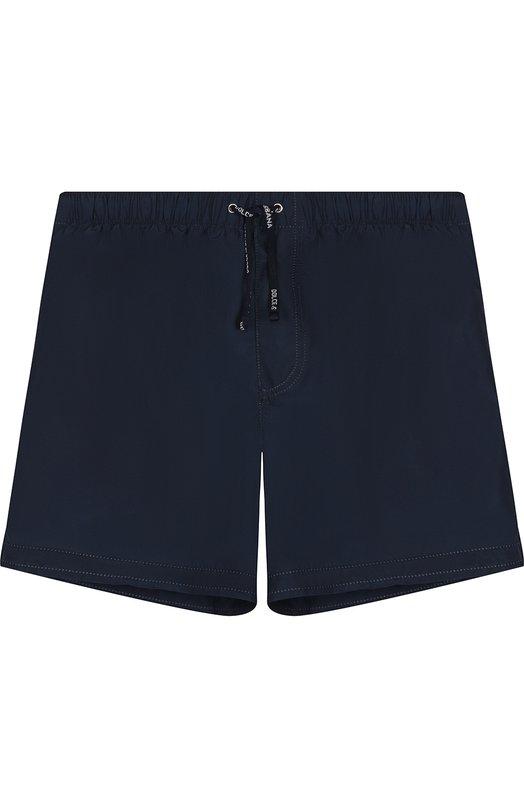 Купить Плавки-шорты с поясом на кулиске Dolce & Gabbana, L4J822/G700V/8-14, Италия, Синий, Полиэстер: 100%;