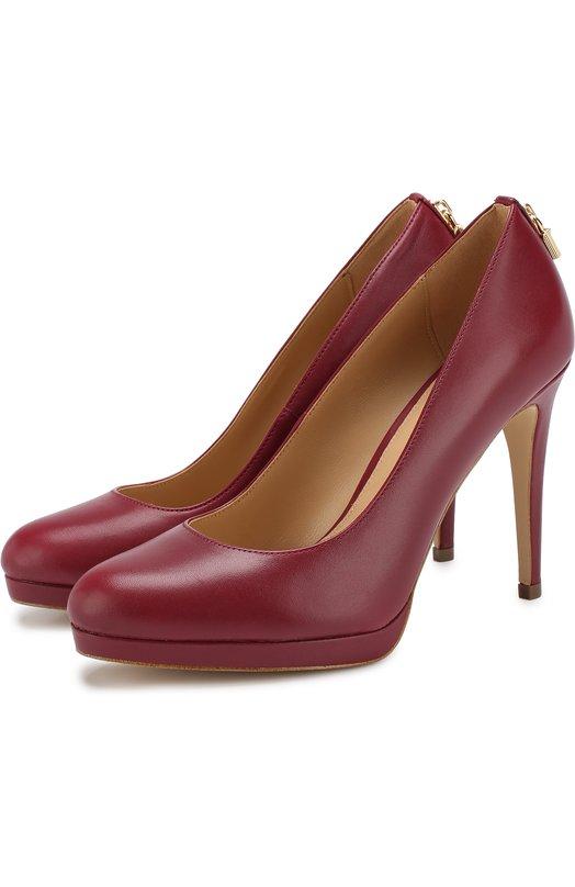 Купить Кожаные туфли Antoinette на шпильке MICHAEL Michael Kors, 40T8ATHP1L, Вьетнам, Малиновый, Подошва-резина: 100%; Подкладка-кожа: 100%; Кожа: 100%;