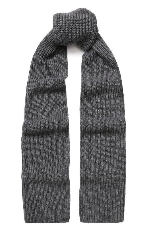 Купить Кашемировый шарф фактурной вязки Dolce & Gabbana, GX301T/JAWEZ, Италия, Серый, Кашемир: 100%;