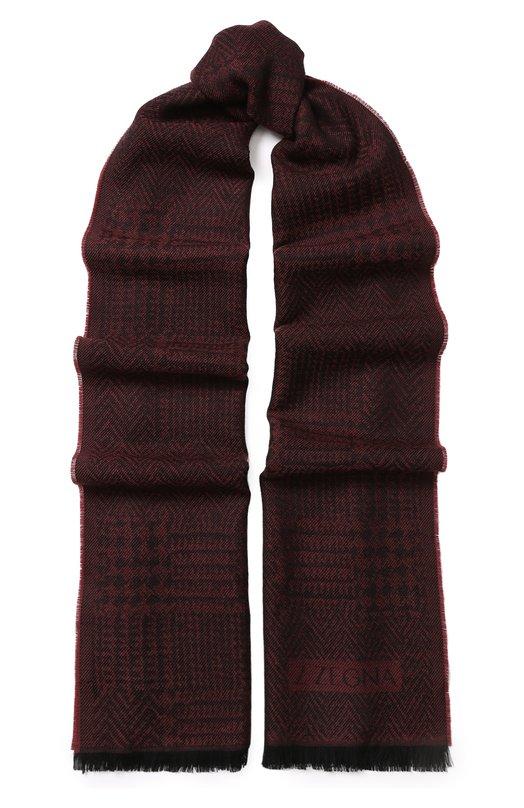 Шерстяной шарф с бахромой Z Zegna