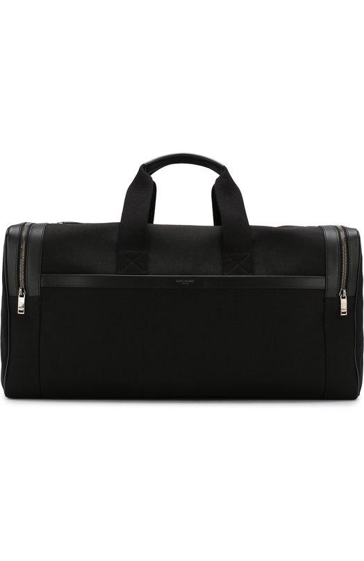 Купить Дорожная сумка из текстиля Saint Laurent, 533199/GIVLD, Италия, Черный, Полиамид: 100%;