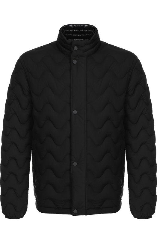 Купить Стеганая куртка на молнии с воротником-стойкой Z Zegna, VR016/ZZ040, Китай, Черный, Подкладка-полиамид: 100%; Полиэстер: 100%;