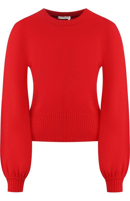 Купить Кашемировый пуловер с круглым вырезом Chloé, CHC18AMP73500, Китай, Красный, Кашемир: 100%;