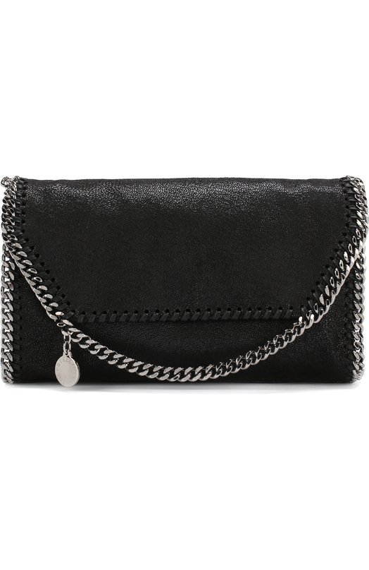 Купить Сумка Falabella mini из эко-кожи Stella McCartney, 364519/W9132, Италия, Черный, Полиэстер: 100%; Текстиль: 100%;