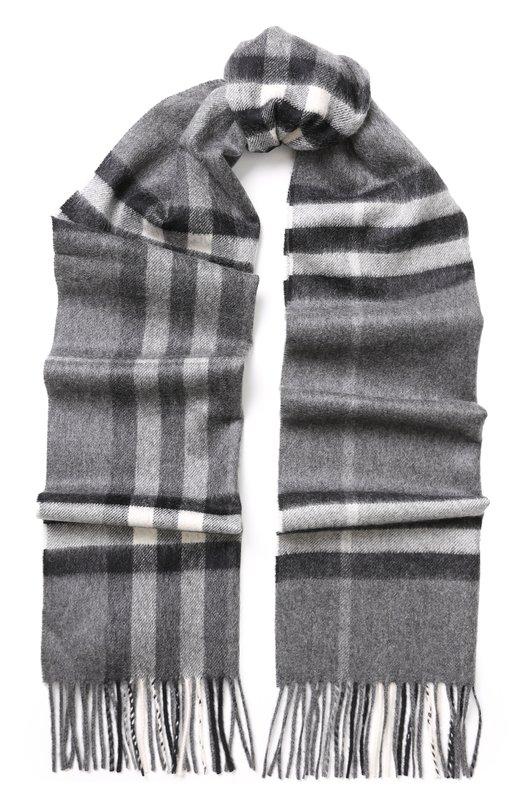 Кашемировый шарф в клетку с бахромой Burberry Burberry