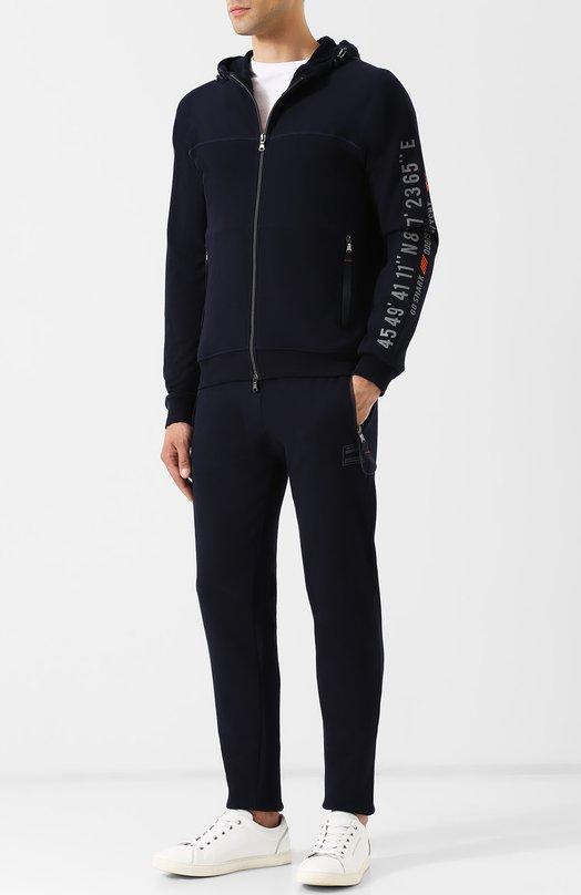 Купить Хлопковый спортивный костюм Paul&Shark, A18P1848, Италия, Темно-синий, Хлопок: 100%;