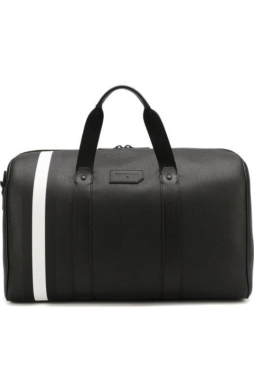 Купить Кожаная дорожная сумка Stuarts с плечевым ремнем Bally, STUARTS.0F/00/SYNTHETIC, Китай, Черный, Поливинилхлорид: 100%;