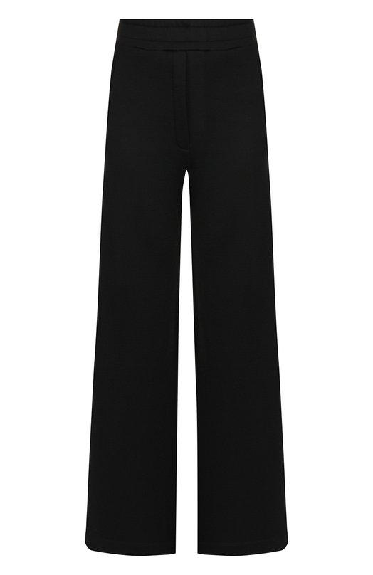 Купить Однотонные расклешенные брюки из смеси хлопка и вискозы By Malene Birger, Q64876004/SAVEUN, Португалия, Черный, Вискоза: 60%; Хлопок: 40%;