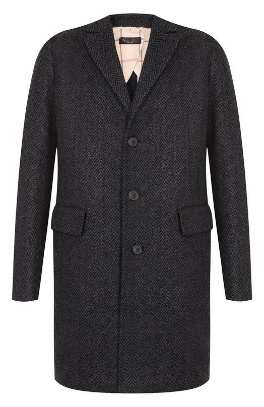 Однобортное пальто из смеси кашемира и шерсти Loro Piana