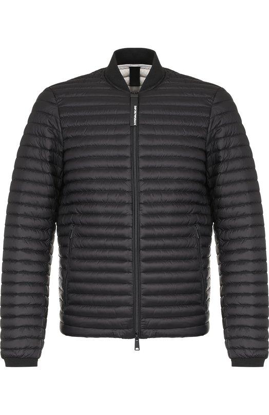 Купить Стеганая куртка на молнии с воротником-стойкой Emporio Armani, 6Z1B94/1NUHZ, Китай, Черный, Полиамид: 100%; Подкладка-Полиамид: 100%;