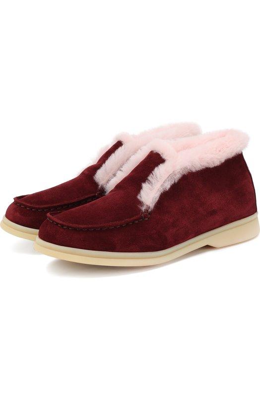Замшевые ботинки с внутренней меховой отделкой Loro Piana