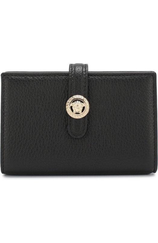 Купить Кожаное портмоне Versace, DPDF702/DVTGH, Италия, Черный, Кожа натуральная: 100%;