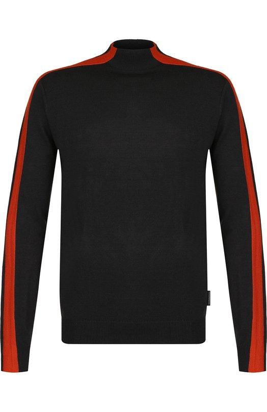 Купить Джемпер из шерсти тонкой вязки Emporio Armani, 6Z1MYM/1MUQZ, Китай, Оранжевый, Шерсть: 51%; Акрил: 49%;