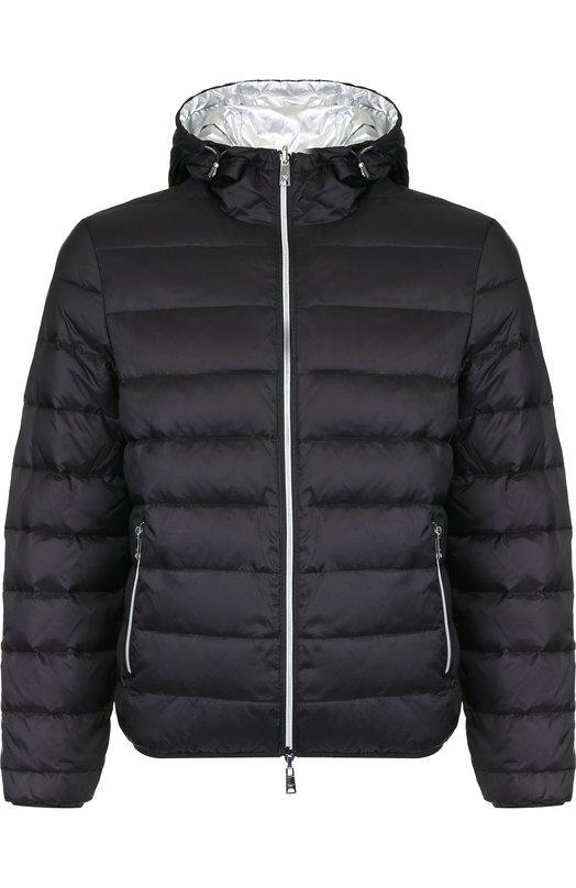 Двусторонняя куртка на молнии с капюшоном Emporio Armani, 6Z1BA7/1NVIZ, Китай, Серебряный, Полиамид: 100%;  - купить
