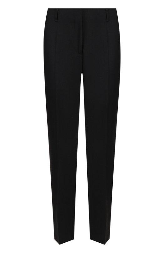 Купить Укороченные шерстяные брюки со стрелками Dries Van Noten, 182-10912-6401, Венгрия, Черный, Шерсть: 100%;