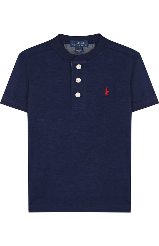 Купить Хлопковая футболка с логотипом бренда Polo Ralph Lauren, 321690106, Индия, Темно-синий, Хлопок: 100%;