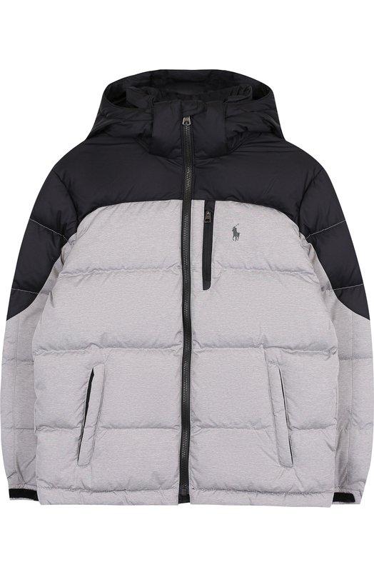 Стеганая куртка на молнии с капюшоном  Polo Ralph Lauren