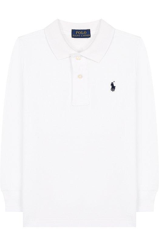 Купить Хлопковое поло с длинными рукавами Polo Ralph Lauren, 322703634, Китай, Белый, Хлопок: 100%;