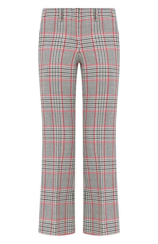 Купить Укороченные расклешенные брюки из шерсти Michael Kors Collection, MKPL211F/KL014, Италия, Разноцветный, Шерсть: 100%;