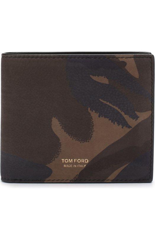 Купить Кожаное портмоне с отделениями для кредитных карт Tom Ford, Y0228F-CH1, Италия, Хаки, Кожа натуральная: 100%;