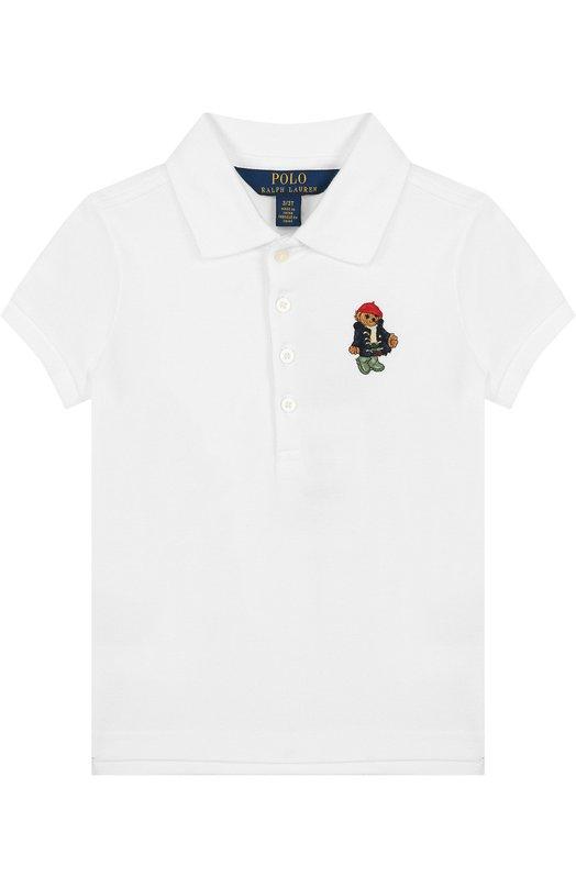 Купить Хлопковое поло с вышивкой Polo Ralph Lauren, 311714129, Китай, Белый, Хлопок: 98%; Эластан: 2%;