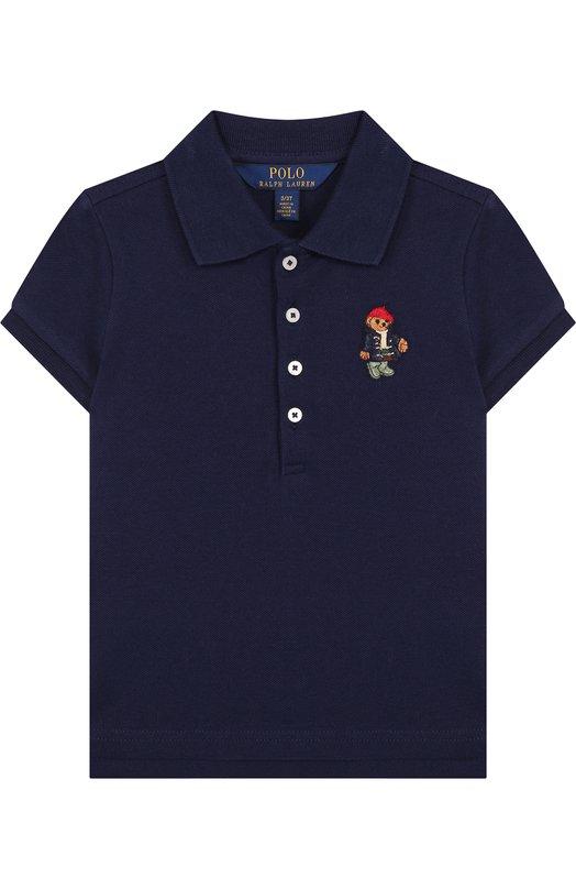 Купить Хлопковое поло с вышивкой Polo Ralph Lauren, 311714129, Китай, Синий, Хлопок: 98%; Эластан: 2%;