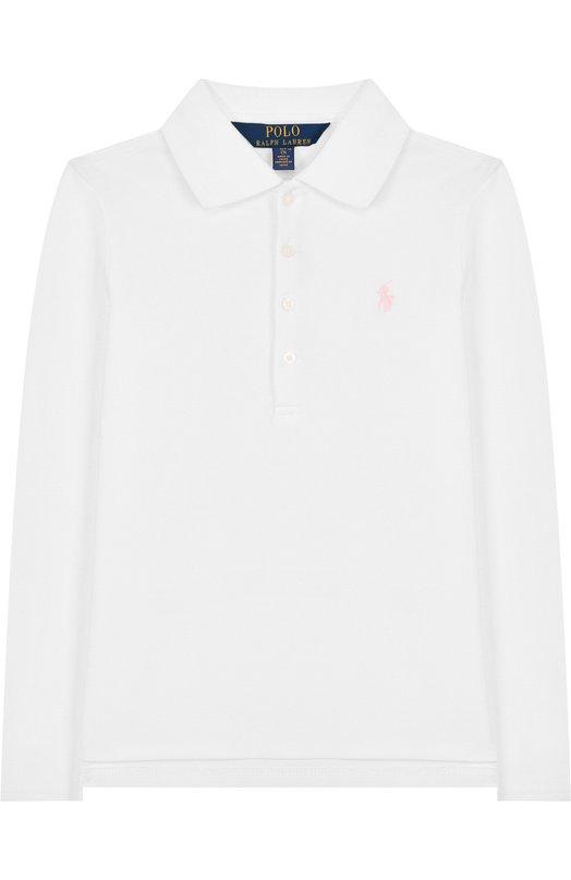 Купить Хлопковое поло с длинными рукавами Polo Ralph Lauren, 312698593, Китай, Белый, Хлопок: 98%; Эластан: 2%;