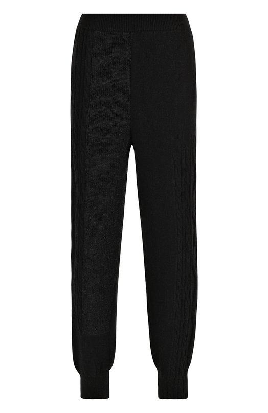 Купить Шерстяные джоггеры фактурной вязки Yohji Yamamoto, YI-K71-147, Япония, Черный, Шерсть: 100%;