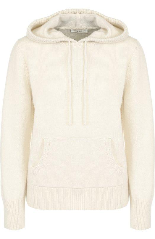 Купить Однотонный кашемировый пуловер с капюшоном The Row, 4115Y187, США, Бежевый, Кашемир: 100%;