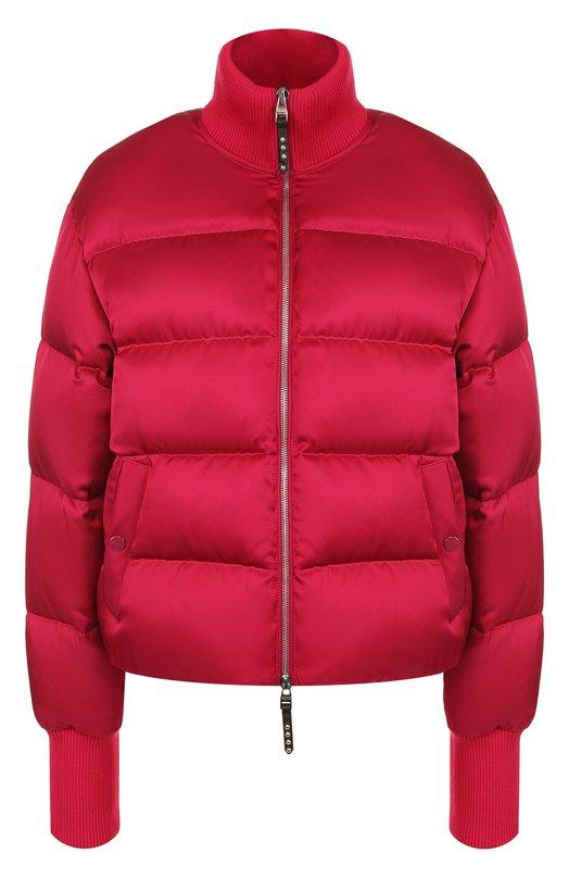 Купить Стеганая куртка на молнии с воротником-стойкой Alexander McQueen, 521000/QLB40, Италия, Фуксия, Шелк: 54%; Вискоза: 46%; Подкладка-шелк: 100%;