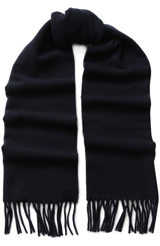 Купить Шерстяной шарф с бахромой Polo Ralph Lauren, 449727530, Италия, Темно-синий, Шерсть: 100%;