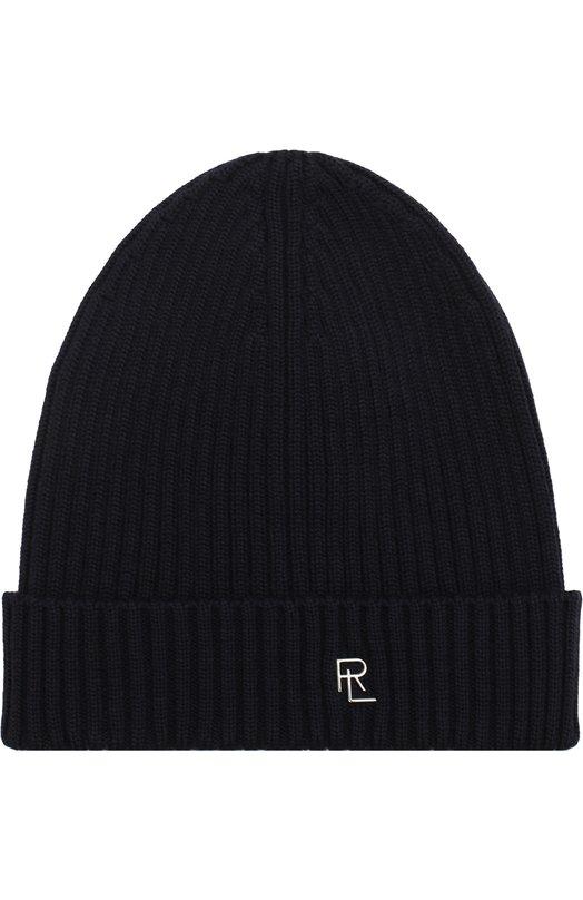 Купить Шерстяная шапка с логотипом бренда Ralph Lauren, 790712863, Италия, Темно-синий, Шерсть: 100%;