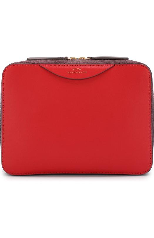 Купить Сумка Stack Anya Hindmarch, 5050925105224, Италия, Красный, Кожа натуральная: 100%;