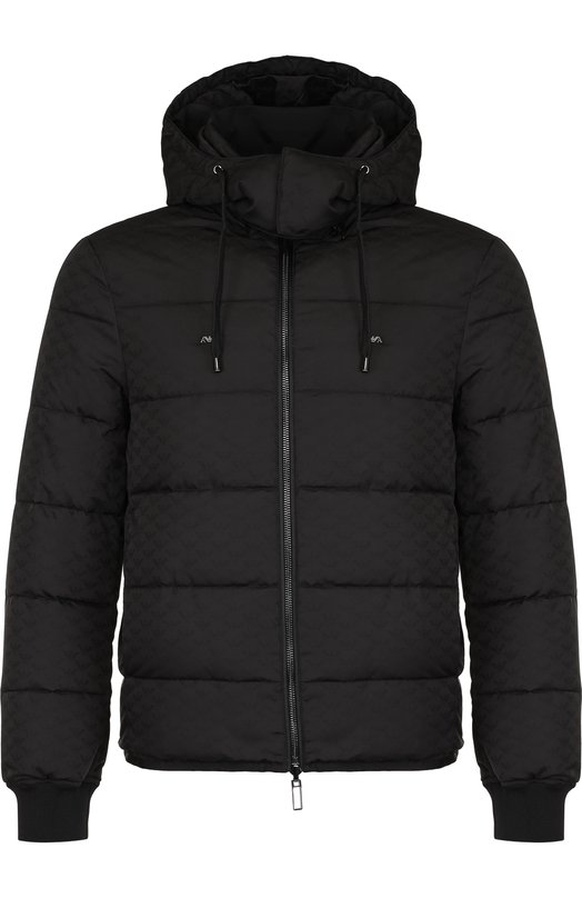 Купить Стеганая куртка на молнии с капюшоном Emporio Armani, 6Z1BQ8/1NGAZ, Китай, Черный, Полиэстер: 100%;