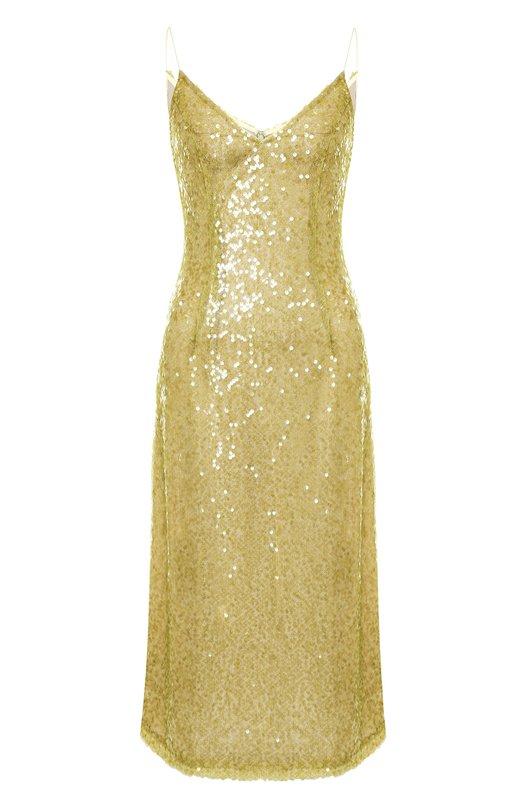Купить Платье-миди с пайетками на бретельках Walk of Shame, DE018-PF18, Россия, Зеленый, Полиэстер: 100%;