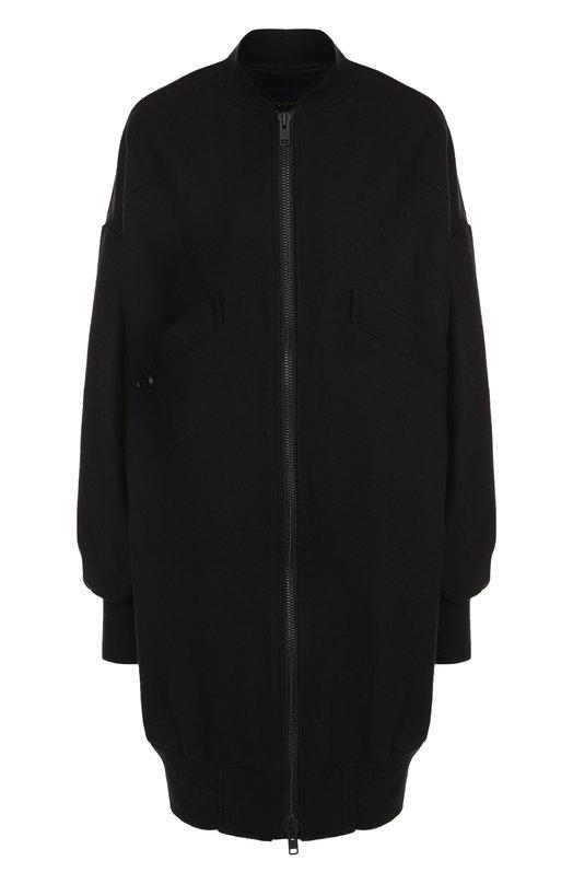 Купить Шерстяной кардиган свободного кроя на молнии Yohji Yamamoto, FI-C51-102, Япония, Черный, Шерсть: 90%; Полиамид: 10%;
