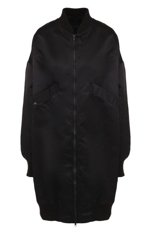 Купить Удлиненная парка на молнии Yohji Yamamoto, FI-C51-501, Япония, Черный, Полиамид: 100%;