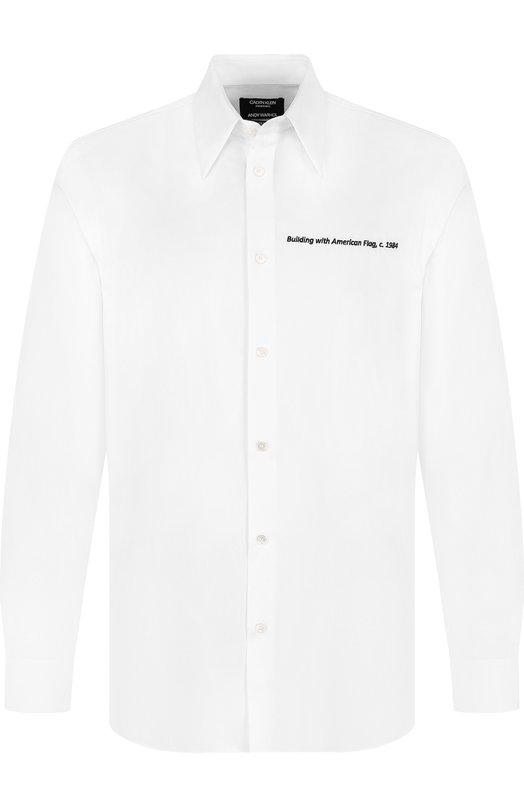 Купить Хлопковая рубашка свободного кроя CALVIN KLEIN 205W39NYC, 83MWTC76/C111, Италия, Белый, Хлопок: 100%;