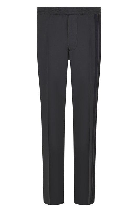 Купить Шерстяные брюки прямого кроя Valentino, QV0RBB002N9, Италия, Серый, Шерсть: 84%; Мохер: 16%;