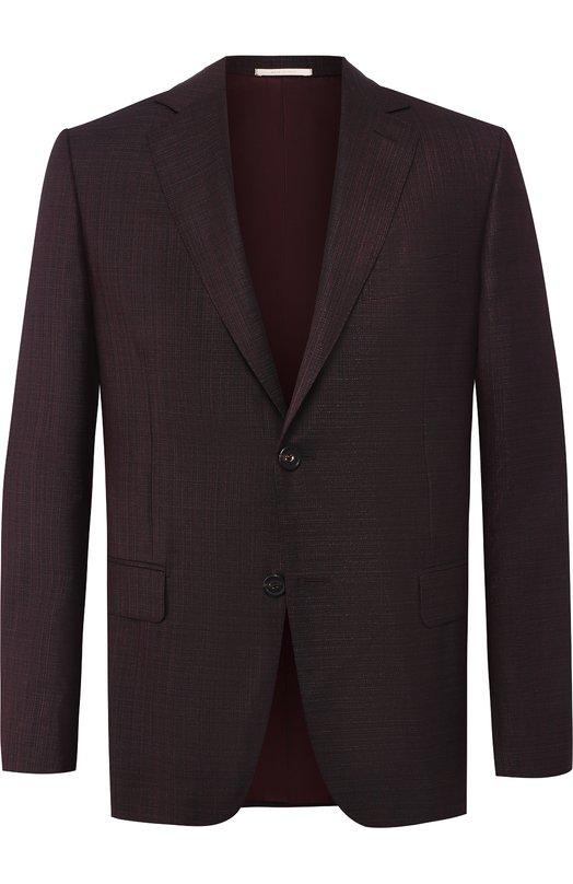 Купить Однобортный шерстяной пиджак Pal Zileri, N32X022-2--41909, Италия, Бордовый, Шерсть: 100%;