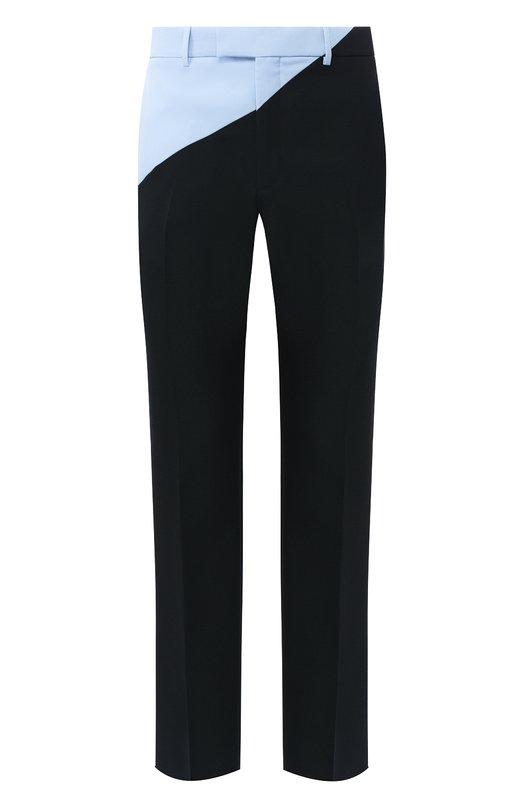 Купить Шерстяные брюки прямого кроя CALVIN KLEIN 205W39NYC, 83MWPA50/W093B, Италия, Черный, Шерсть: 100%;